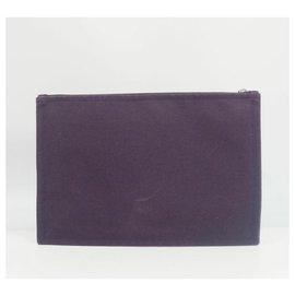 Hermès-HERMES Yachting GM Womens clutch bag purple-Purple