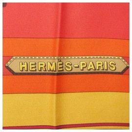 Hermès-Hermès Carre90 belt pattern Womens scarf red-Red