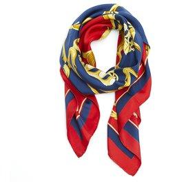 Hermès-CROWNS RED BLUE CROWNS-Red,Blue