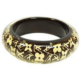 Louis Vuitton-Bracelet LOUIS VUITTON Uncle John GM en résine Bracelet Femme M65301 marron foncé x or-Autre