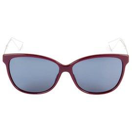 Dior-lunettes de soleil dior confiant 2 Couleur Bordeaux-Rouge,Métallisé