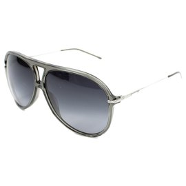 Dior-DIOR SUNGLASSES BLACK TIE 128 S-Grey,Silver hardware