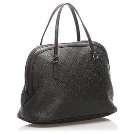 Gucci-Gucci - Cartable noir Guccissima Dome-Noir