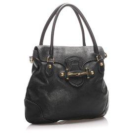 Gucci-Gucci Cartable en cuir New Pelham noir-Noir