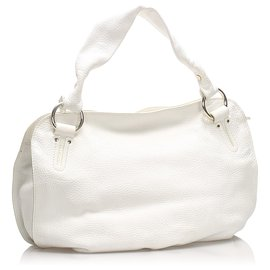 Céline-Celine White Leather Bittersweet Handbag-White