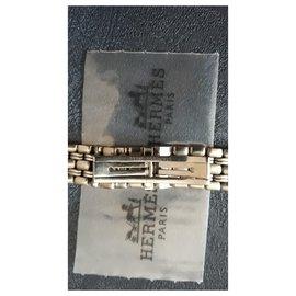 Hermès-Hermès steel bracelet for cap cod watch-Silvery