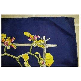 Hermès-Hermes Orchidees II-Blue,Multiple colors,Yellow