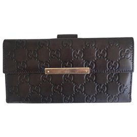 Gucci-GG monogram wallet-Brown