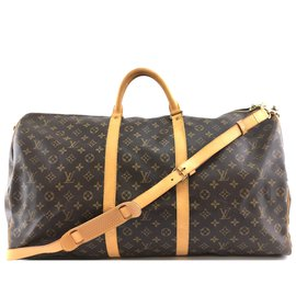 Louis Vuitton-Louis Vuitton Keepall 60 Bandouliere Monogram Canvas-Brown