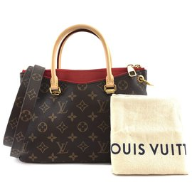Louis Vuitton-Louis Vuitton Pallas BB Monogram Canvas Red calf leather-Brown