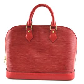 Louis Vuitton-Louis Vuitton Alma PM Red Epi Leather-Red