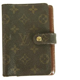 Louis Vuitton-LOUIS VUITTON Monogram agenda cover daily planner organizer calendar small size-Brown