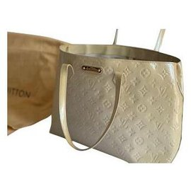 Louis Vuitton-WHILSHIRE SHOPPER MM MONOGRAM LEATHER BEIGE-Beige