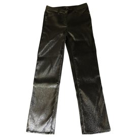 Chanel-Straight Jeans-Black
