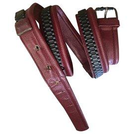 Gianni Versace-Vintage Gianni Versace men's belt-Dark red