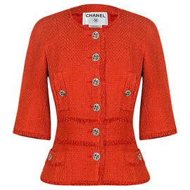Chanel-impossible to find tweed jacket-Coral