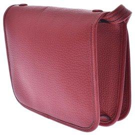Hermès-Sac bandoulière Hermès-Rouge