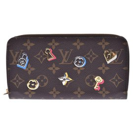 Louis Vuitton-Louis Vuitton Love Lock Zippy Coin Purse-Brown