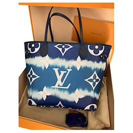 Louis Vuitton-Louis Vuitton Neverfull MM collection Escale Azur summer 2020-Blue