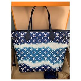 Louis Vuitton-Coleção Louis Vuitton Neverfull MM Escale Azur summer 2020-Azul