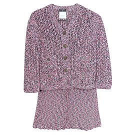 Chanel-cute skirt suit-Pink