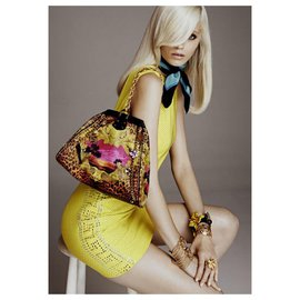 Versace For H&M-New Versace for H&M Cocktail mini dress with the label-Yellow
