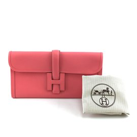 Hermès-Hermès Jige Elan 29 Embreagem Rosa Azalee Swift Leather-Rosa
