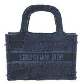 Dior-Dior Book Tote Oblique Mini Wave Azul Denim-Azul