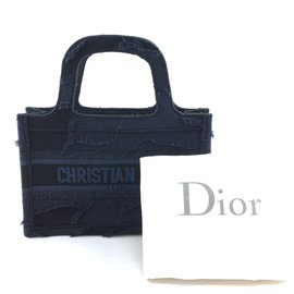 Dior-Dior Book Tote Schräge Mini Wave Blue Denim-Blau