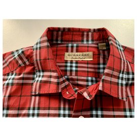Burberry-Small scale Check-Rouge
