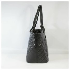 Chanel-CHANEL Cambon large tote Womens tote bag A25169 black x black-Black