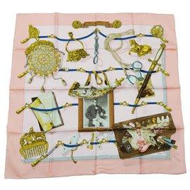 Hermès-HERMES Memoire Carre90 Memoire d' Womens scarf pink-Pink