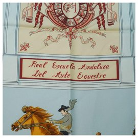 Hermès-HERMES Royal Andalusian Equestrian School Carre90 Real Escuela Andaluza Del Arte Equestre Womens scarf yellow-Yellow