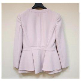 Alexander Mcqueen-Alexander McQueen Pink Viscose Jacket Blazer Sz.38-Pink