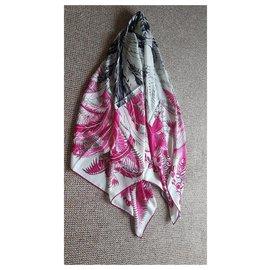 Hermès-Hermès cashmere and silk shawl-Other