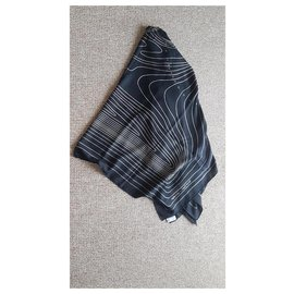 Hermès-Hermès cashmere and silk shawl-Black