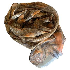 Etro-Paisley silk scarf-Multiple colors