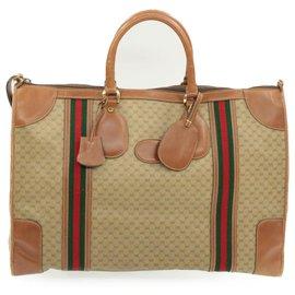 Gucci-Sac de voyage Gucci-Beige