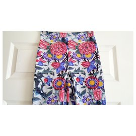 Chanel-NEW WITHOUT TAGS RARE PRINTED CHANEL SHORTS SIZE 36-Multiple colors