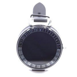 Louis Vuitton-Louis Vuitton 42 Montre MM Horizon Tambour Monogram Pvd Noir-Noir