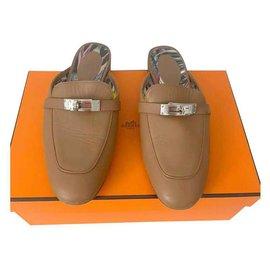 Hermès-Mules-Beige