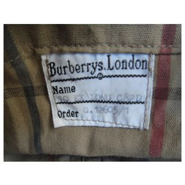 Burberry-imperméable femme Burberry vintage t 38-Kaki