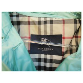 Burberry-trench léger Burberry London t 34/36-Turquoise