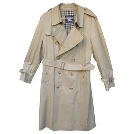 Burberry-men's Burberry vintage t trench coat 48-Beige
