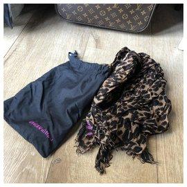 Louis Vuitton-Louis Vuitton, Must-have! Louis Vuitton Etole Leopard Marron byStephen Sprouse - édition limitée!-Marron,Imprimé léopard,Fuschia