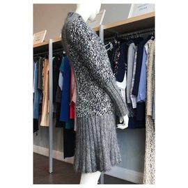 Chanel-5645$ rare coat dress-Dark grey