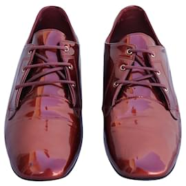 Chanel-Lace ups-Dark red