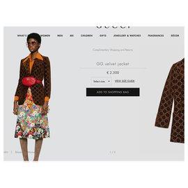 Gucci-nouvelle collection actuelle veste GG-Marron