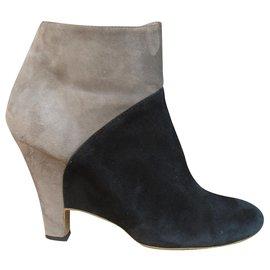 Salvatore Ferragamo-Salvatore Ferragamo p boots 39,5-Black,Beige