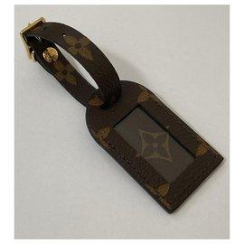 Louis Vuitton-Étiquette de bagage-Marron